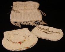 Lot of 3 Beaded Handbags / Purses / Clutches