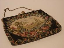 Petit-Point Scenic Handbag / Purse- Antique Estat