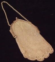 Antique / Edwardian Wire Mesh Handbag / Purse