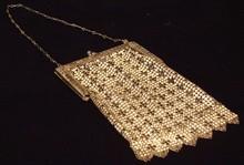 Antique Wire Mesh & Enamel Purse / Handbag