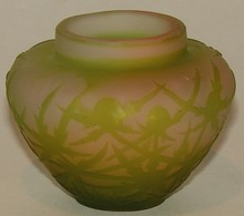 Galle Signed Cameo Glass Cabinet Vase - Ca. 1925