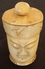 Carved Bone Asian Snuff Bottle