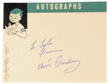 1955 Elvis Presley Signed and Inscribed Autograph Book Page