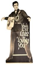 1957 <em>Loving You</em> Standee Featuring a Nearly Life-Sized Elvis Presley - A Super-Rare Display Piece