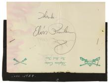 1958 Elvis Presley Signed Fort Hood Stationery - Signed While in Basic Training