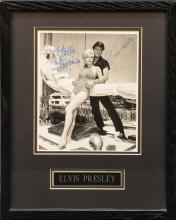 1962 Elvis Presley and Stella Stevens Signed Publicity Photo from <em>Girls! Girls! Girls!</em>