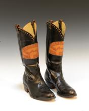 Collection of Correspondence From Nick Adams to Colonel Tom Parker and Cowboy Boots Custom Made for the Colonel by Adams