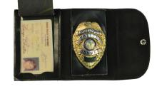 Ed Parker Denver Police Badge and Police Documents Collection - Including 1970 Elvis Presley Mug Shot*