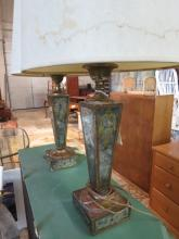 Antique mirrored mercury glass lamps