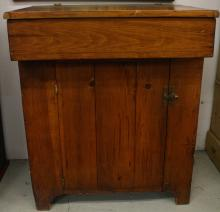Antique dry sink with cabinet