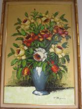 VARGAS signed oil on canvas