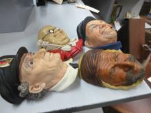 Group of four Bosson?s Chalkware Heads
