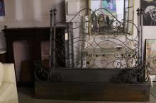 Contemporary Wrought Iron Gilt Decorate Bedframe