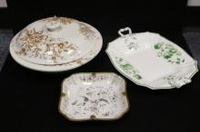 Assorted Transfer Ware & Gilded Pieces