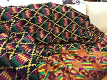Brilliant Colored African Area Rug or Throw