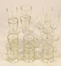 Collection of 13 Mini Crystal Glasses