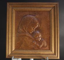 Leather Madonna and Child