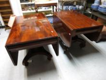 Period Empire Drop Leaf Mahogany Tables c. 19th c.