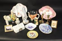 Group of Vintage Porcelain Decorative Table Items