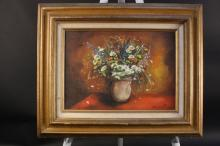 JANE JACKTER Flora still life oil on canvas
