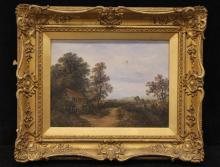 Antique English Victorian Landscape Painting