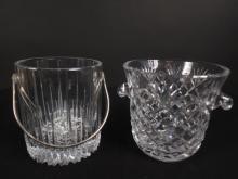Pair Cut Crystal Ice Buckets