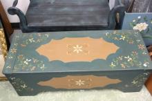 Folk Art Painted Country Chest