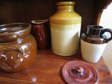 4 VIntage Pottery Jugs, vases, crocks