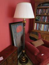 MY HOWARD Painted Black and Gold Floor Lamp