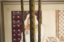 Gilded Iron Torchiere Floor lamp