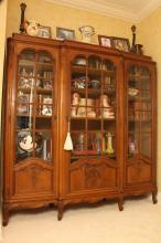 Belgiun Art Nouveau Display  Cabinet