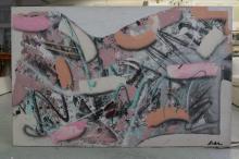 Baha Oil on Canvas Modern Abstract