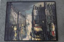 Rue Colaincourt Paris Street Scene Oil on Canvas