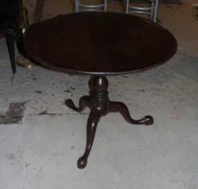 18th Century American Revolving Birdcage Table