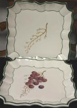 Set of Four Grape Motif Italian Decorative Plates