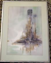 COTA, JL Watercolor City Siloutte