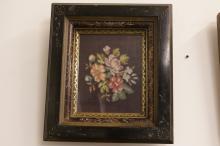 Ornately Framed Antique Floral Needlepoint