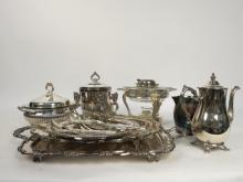 Group Lot of Assorted Silver Plate