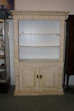 Vintage White Washed Armoire