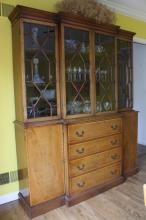 Vintage BEACON HILL Fruitwood China Cabinet