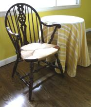 Mahogany Windsor Chair and Round Cafe Table