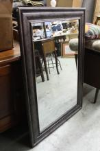 Painted Pewter Color Framed Mirror