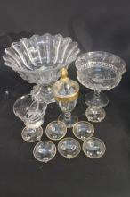 Lot of Antique Sterling and Crystalware