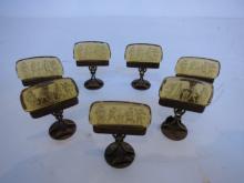 Austrian Art Deco Bronze Glass  Place Setters