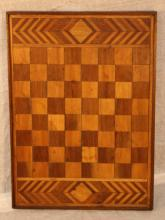 Oak and Walnut inlaid Checkerboard