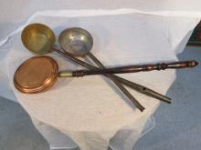 Lot of three antique copper and brass pieces