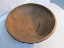 Large early American wooden Burl Bowl