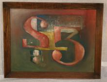 RINALDI 1963 Oil on Canvass Numeric Painting