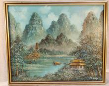 H.S. LEUNG Oil on Canvas