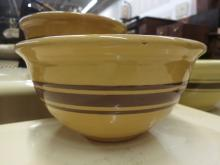 3 Graduated Wellar Yellow banded Bowls